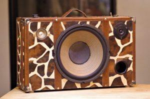 Enceinte portable vintage de thierrycréations - Jungle-1