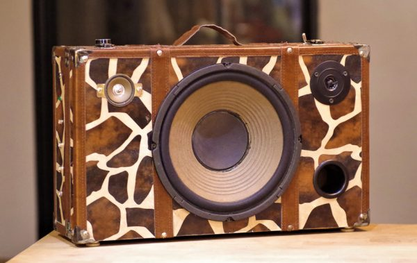 Enceinte portable vintage de thierrycréations - Jungle-1